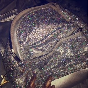 holographic bling mini backpack never worn